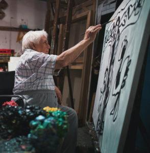 Oswaldo Vigas painting
